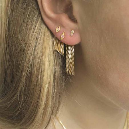 Stine A Ørering, Two Candy Dots Earring, Guld ørestikkere inspiration