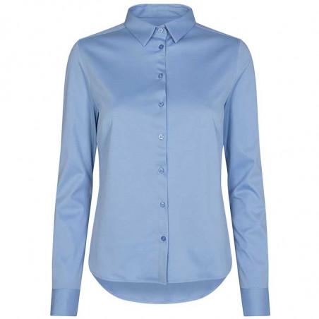 Mos Mosh Skjorte, Tina Jersey, Bel Air Blue Mosmosh skjorte bluse