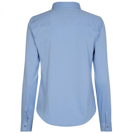 Mos Mosh Skjorte, Tina Jersey, Bel Air Blue Mosmosh skjorte bluse bagside