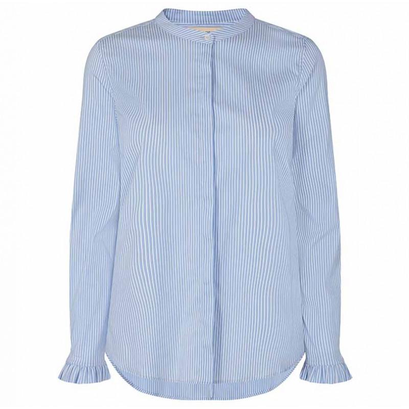 Mos Mosh Skjorte, Mattie Two Stripe, Bel Air Blue