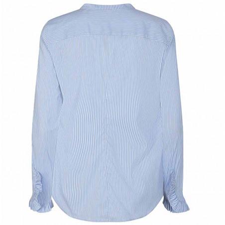 Mos Mosh Skjorte, Mattie Two Stripe, Bel Air Blue ryg