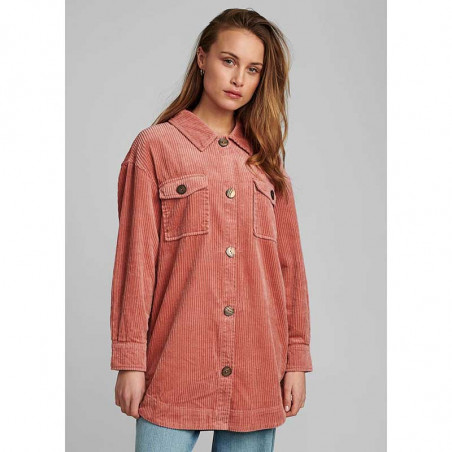 Nümph Skjorte, Nucalah Overshirt, Ash Rose Numph fløjlsskjorte-jakke på model