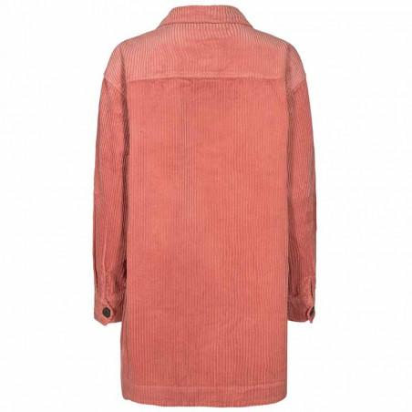 Nümph Skjorte, Nucalah Overshirt, Ash Rose Numph fløjlsskjorte-jakke ryg