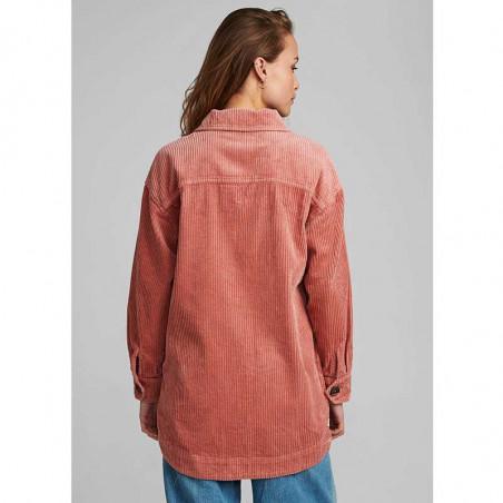 Nümph Skjorte, Nucalah Overshirt, Ash Rose Numph fløjlsskjorte-jakke på model bagfra