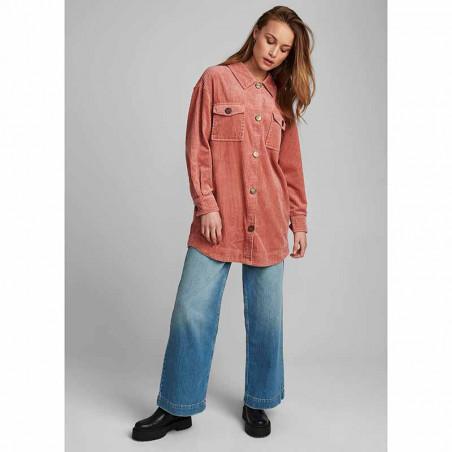 Nümph Skjorte, Nucalah Overshirt, Ash Rose Numph fløjlsskjorte-jakke look