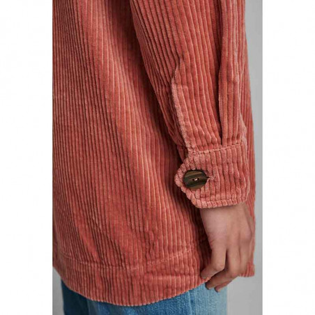 Nümph Skjorte, Nucalah Overshirt, Ash Rose Numph fløjlsskjorte-jakke detalje ærme