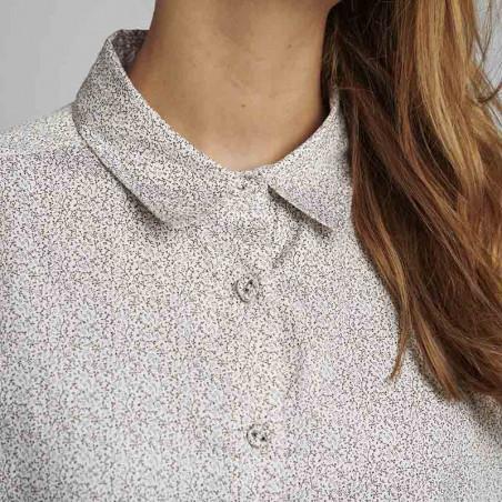 Nümph Skjortekjole, Nucaila, Tannin numph oversize skjorte detalje krave