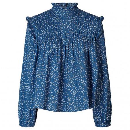 Lollys Laundry Bluse, Kalle shirt, Petrol