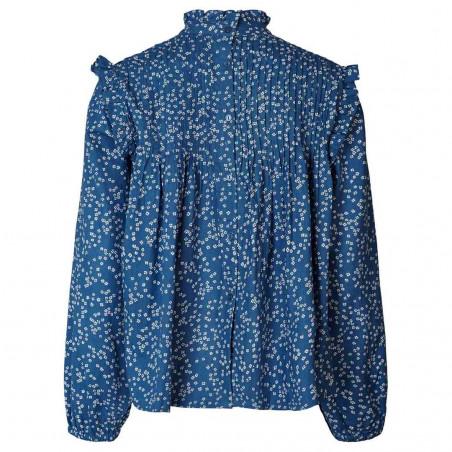 Lollys Laundry Bluse, Kalle shirt, Petrol ryg
