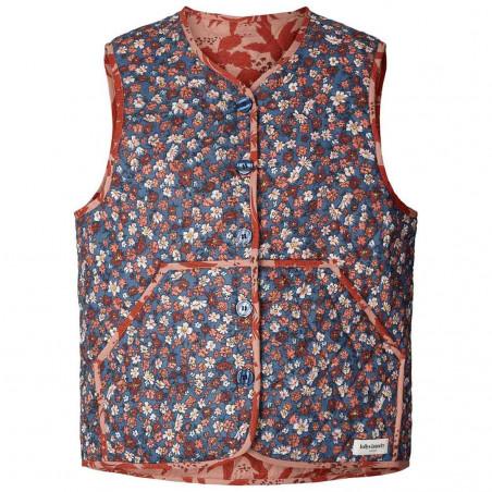 Lollys Laundry Vest, Santiago, Red Flower Print