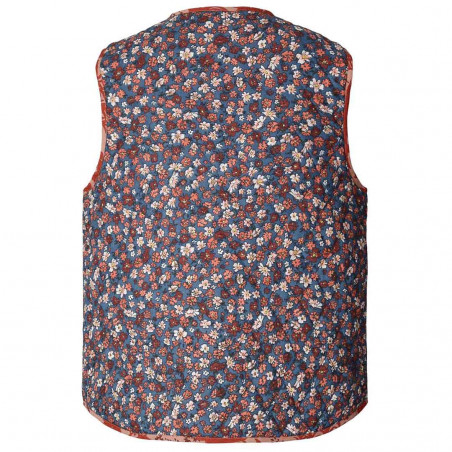Lollys Laundry Vest, Santiago, Red Flower Print ryg