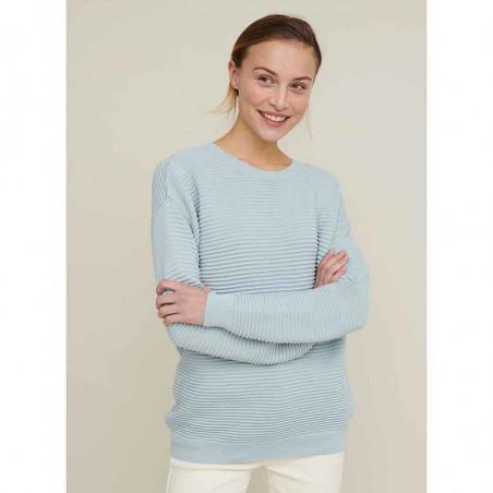 Basic Apparel Strik, Ista sweater, Celestial Blue på model