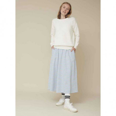 Basic Apparel Strik, Vicca sweater, Off white Bluse på model look