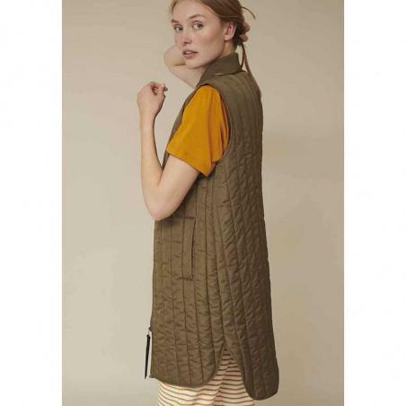 Basic Apparel Vest, Louisa jacket vest side, Capers Green dame overtøj