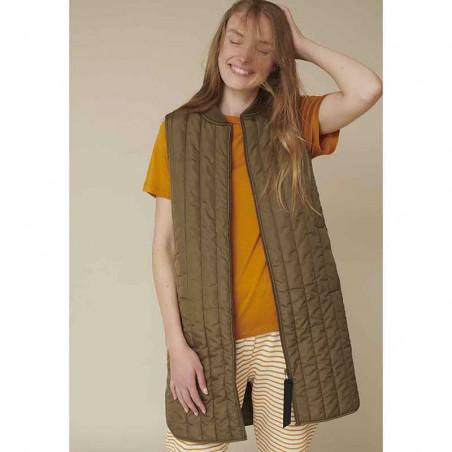 Basic Apparel Vest, Louisa jacket vest side, Capers Green dame overtøj look