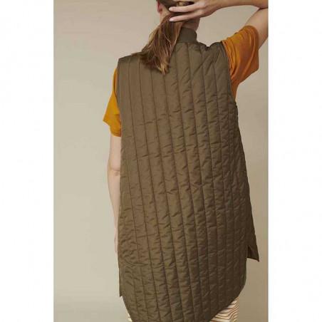 Basic Apparel Vest, Louisa jacket vest side, Capers Green dame overtøj bagfra