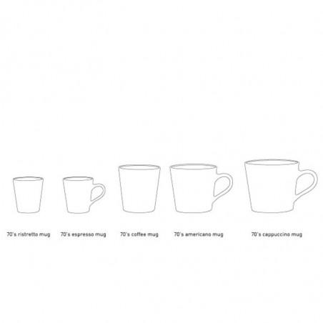 HK Living Kopper, 4 stk Ceramic 70's Espresso, Lava hk living dk kopper Størrelser