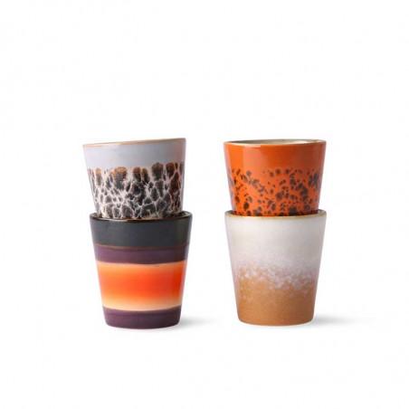HK Living Kopper, Ceramic 70's Ristretto Mugs 4 stk, Multi HKliving DK keramik krus