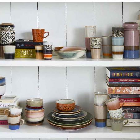 HK Living Kopper, Ceramic 70's Ristretto Mugs 4 stk, Multi HKliving DK keramik krus mood