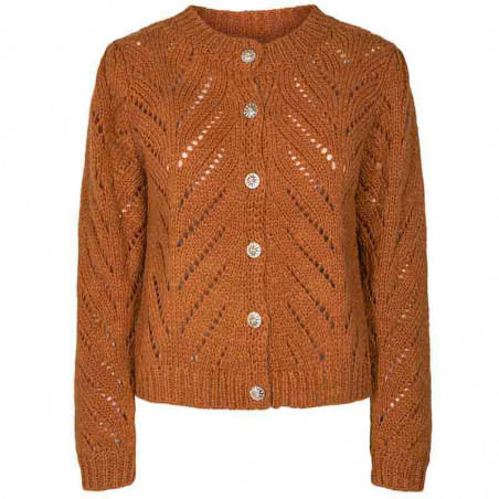 Nümph Cardigan, Nubritney, Leather Brown, Numph tøj, Nümph strik