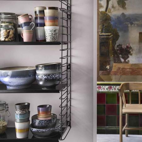 HK Living Krus, Ceramic 70's, Mud hk living dk coffee mug look