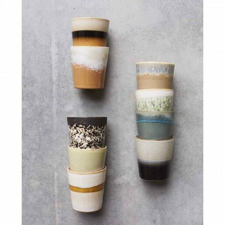 HK Living Krus, Ceramic 70's, Mud hk living dk coffee mug forskellige