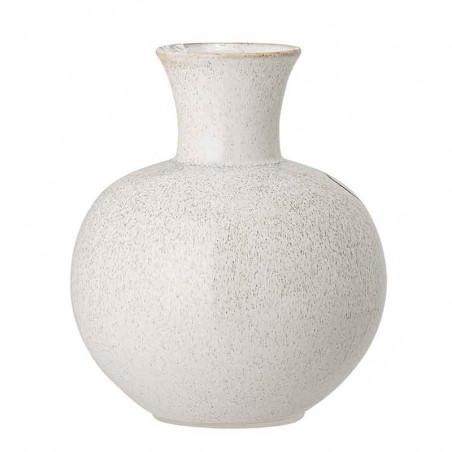 Bloomingville Vase, Stor m/ansigt, Hvid Bloomingville stentøjsvase bagside