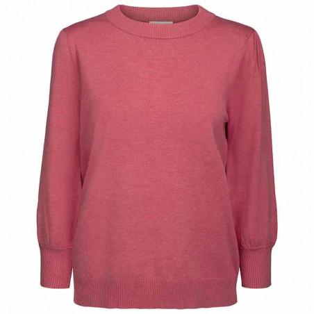 Minus Bluse, Mersin Knit tee, Pink Lemonade - Minus tøj til kvinder