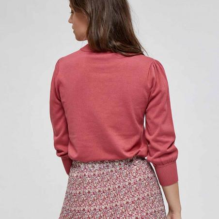 Minus Bluse, Mersin Knit tee, Pink Lemonade - bagfra