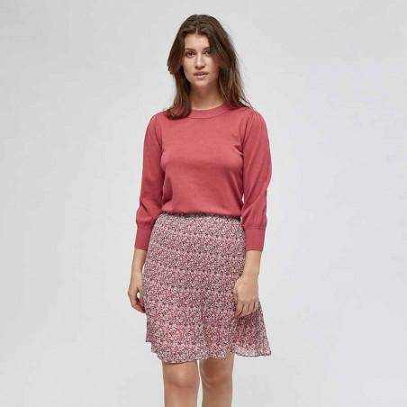 Minus Bluse, Mersin Knit tee, Pink Lemonade - Minus tøj look