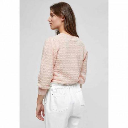 Minus Strik, Diana knit Pullover, Lavender Frost ryg