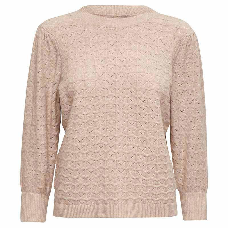 Minus Strik, Diana knit Pullover, Lavender Frost Minus tøj til kvinder
