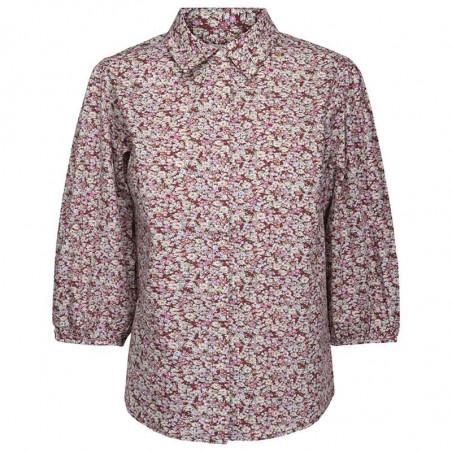 Minus Bluse, Rasmina Shirt, Pink Flower Print Minus fashion