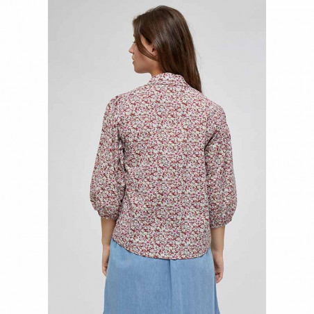 Minus Bluse, Rasmina Shirt, Pink Flower Print ryg