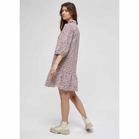 Minus Kjole, Rasmina Dress, Pink Flower Print fra siden Minus Fashion