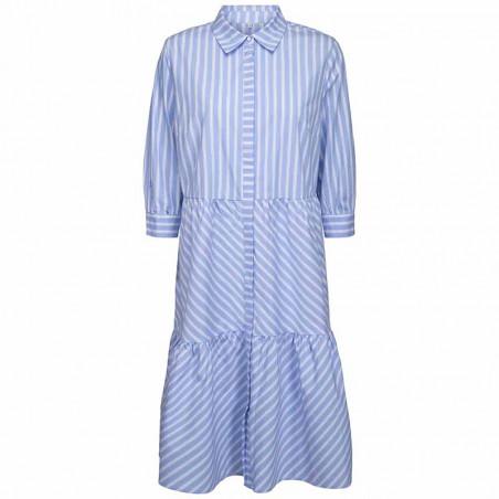Minus Kjole, Dalina Dress, Powder Blue Stripe Minus fashion