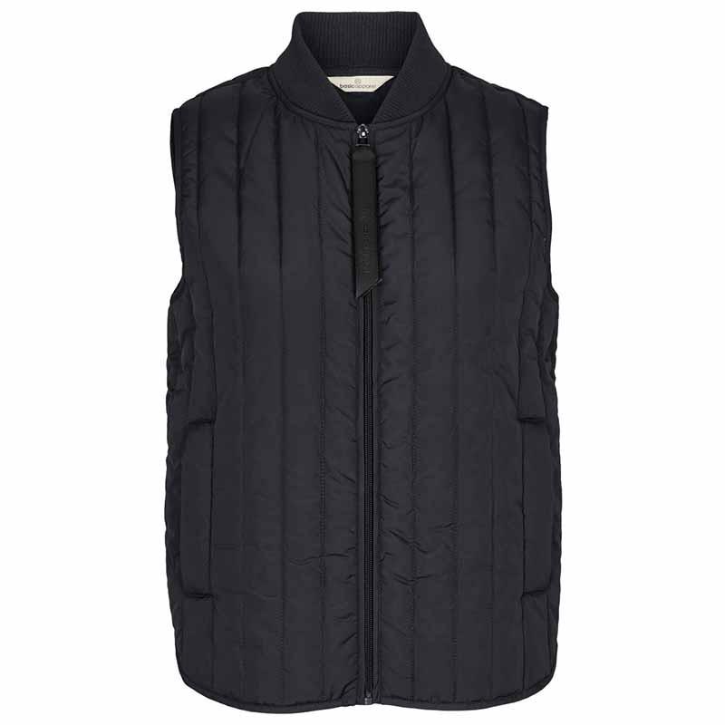 Basic Apparel Vest, Louisa Short vest, Black Basic apparel overtøj