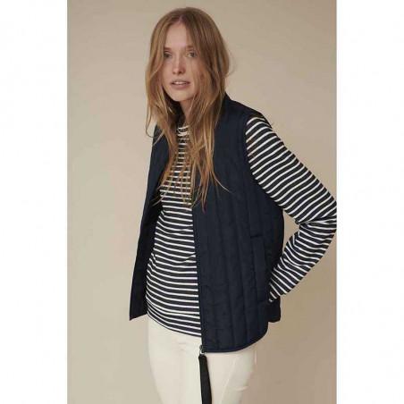 Basic Apparel Vest, Louisa Short vest, Black Basic apparel overtøj model