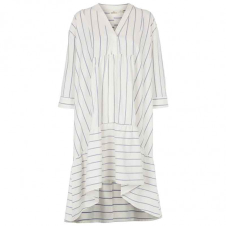Basic Apparel Kjole, Abby Dress New Stripe, Off White/Navy