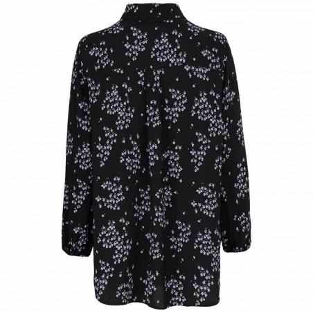 Modström Skjorte, Hunch Print Shirt, Flower Pond Modstrøm bluse bagfra