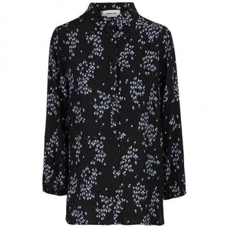 Modström Skjorte, Hunch Print Shirt, Flower Pond Modstrøm bluse med print