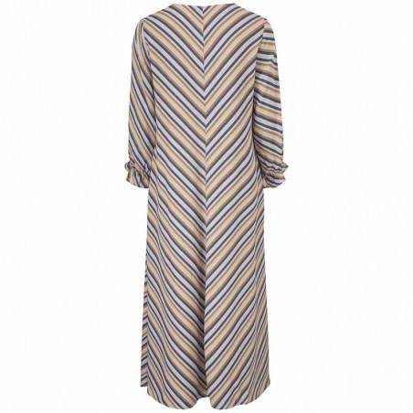 Modström Kjole, Clementine LS Print dress, Faded Dark Stripe Modstrøm