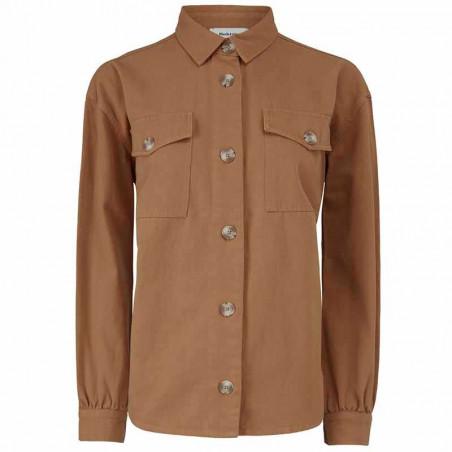 Modström Skjorte, Catalina, Brown Oak Modstrøm twill skjorte