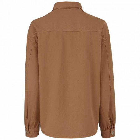 Modström Skjorte, Catalina, Brown Oak Modstrøm twill skjorte ryg