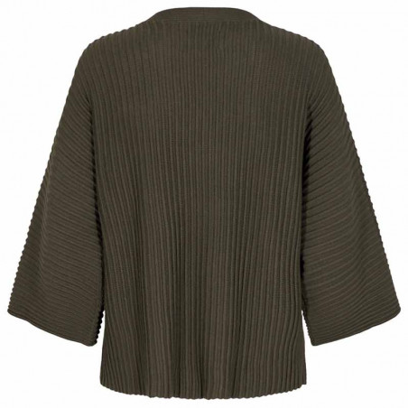 Nümph Strik, Nuirmelin V-Neck, Deep Depth numph pullover ryg