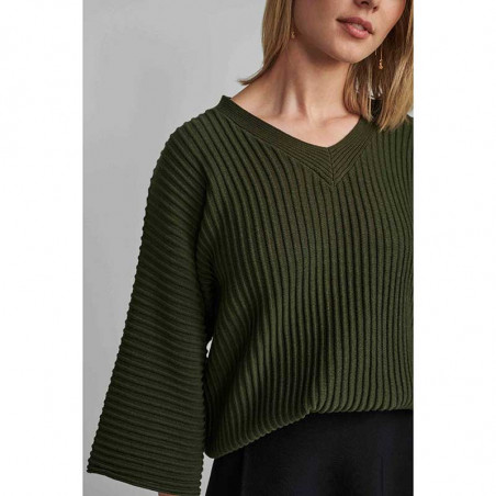 Nümph Strik, Nuirmelin V-Neck, Deep Depth numph pullover med v-hals