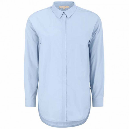 Soft Rebels Skjorte, SRCarmia LS, Zen Blue Klassisk dame skjorte