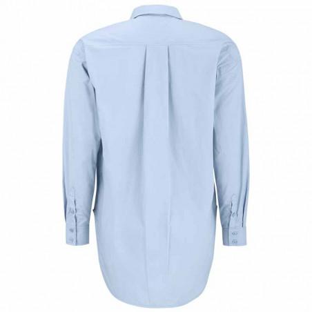 Soft Rebels Skjorte, SRCarmia LS, Zen Blue Klassisk dame skjorte ryg