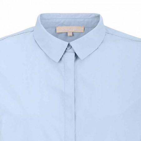 Soft Rebels Skjorte, SRCarmia LS, Zen Blue Klassisk dame skjorte detalje