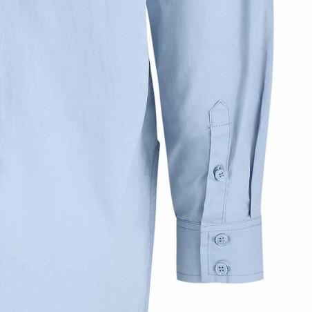 Soft Rebels Skjorte, SRCarmia LS, Zen Blue Klassisk dame skjorte ærme detalje